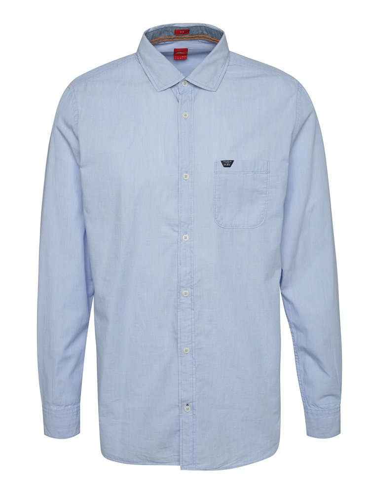 Světle modrá pánská slim fit košile s.Oliver