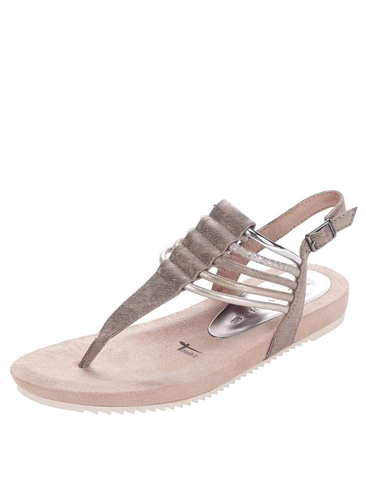 Starorůžové sandály Tamaris