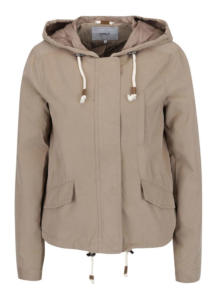 Jachetă bej ONLY Skylar cu glugă