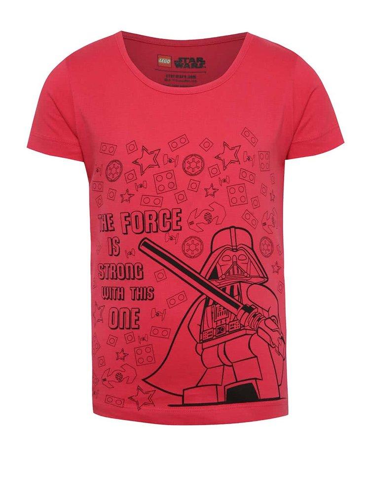 Tmavě růžové holčičí tričko s potiskem LEGO Wear