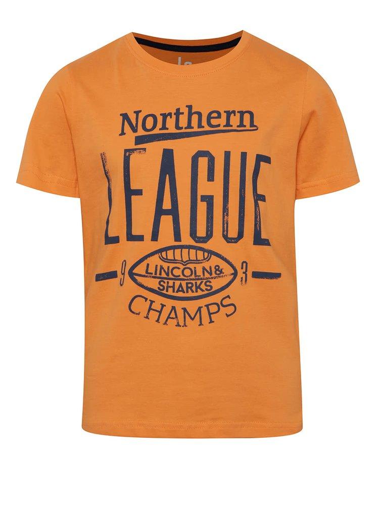 Oranžové klučičí triko s krátkým rukávem 5.10.15.