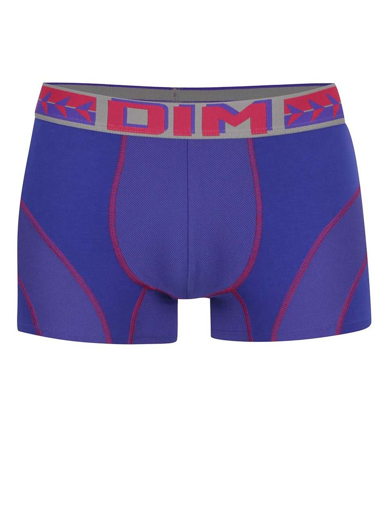 Boxeri albaștri DIM cu detalii roșii