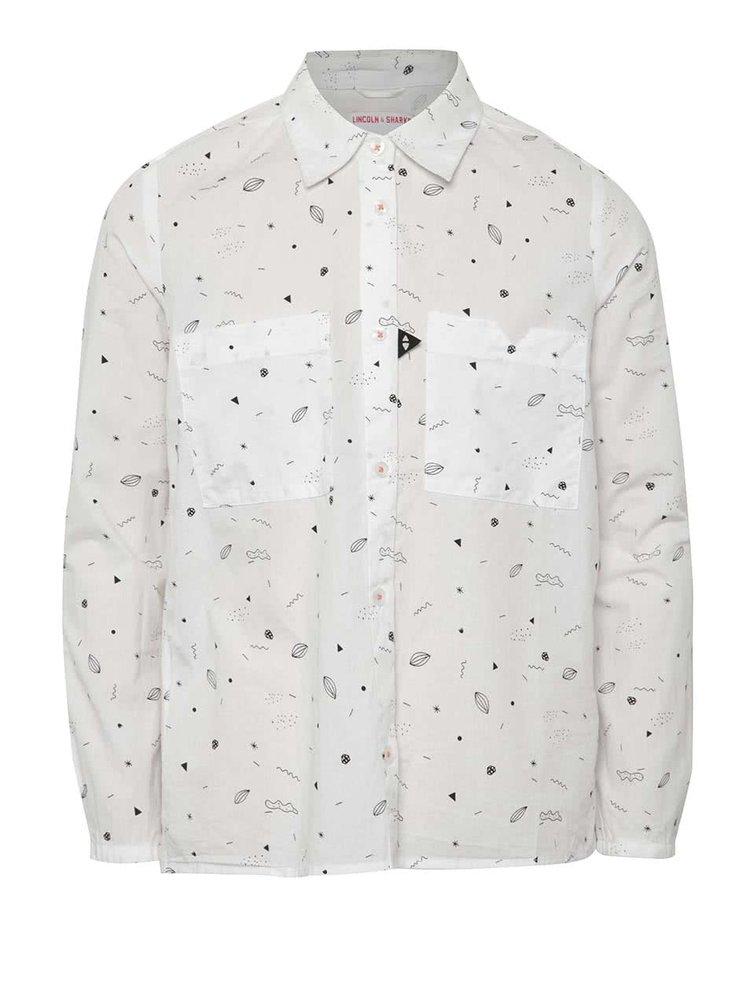 Bílá holčičí vzorovaná košile 5.10.15.