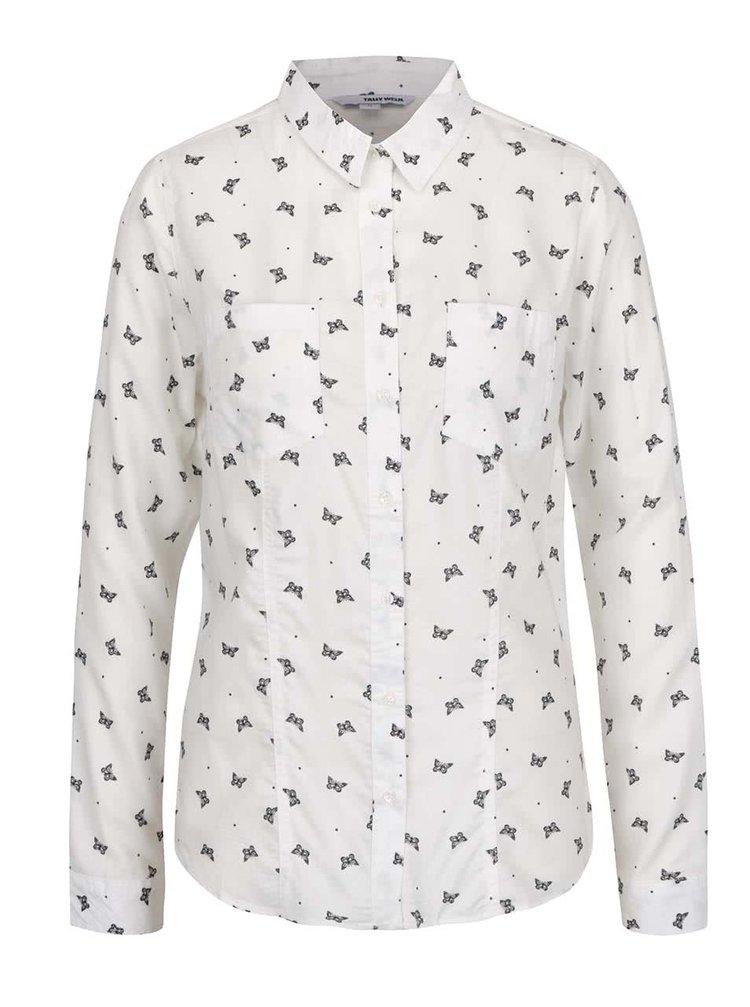 Krémová košile s motýly TALLY WEiJL
