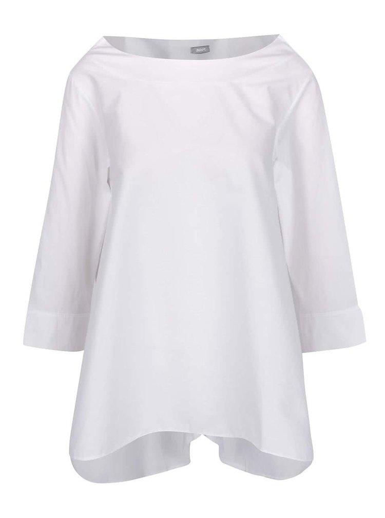 Bluză supradimensionată albă ZOOT cu tiv asimetric