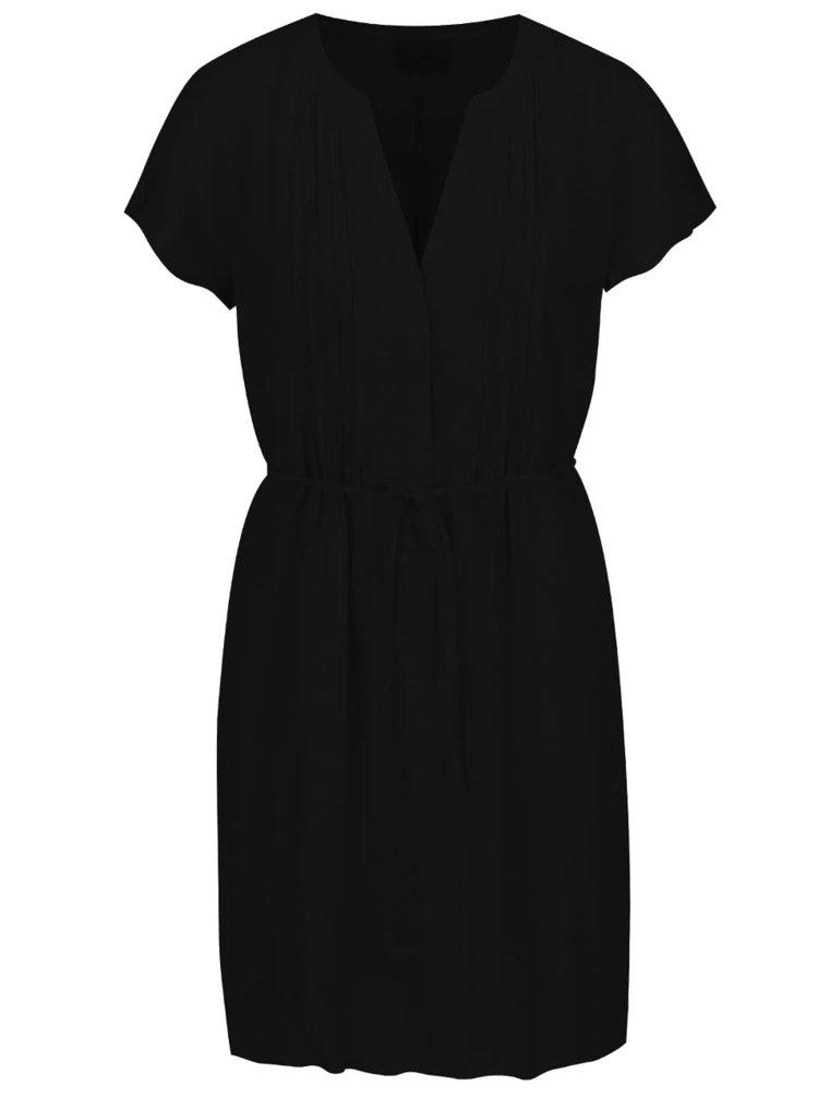Černé šaty se zavazováním VERO MODA Mandy