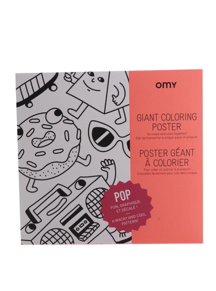 Poster mare de colorat OMY Pop