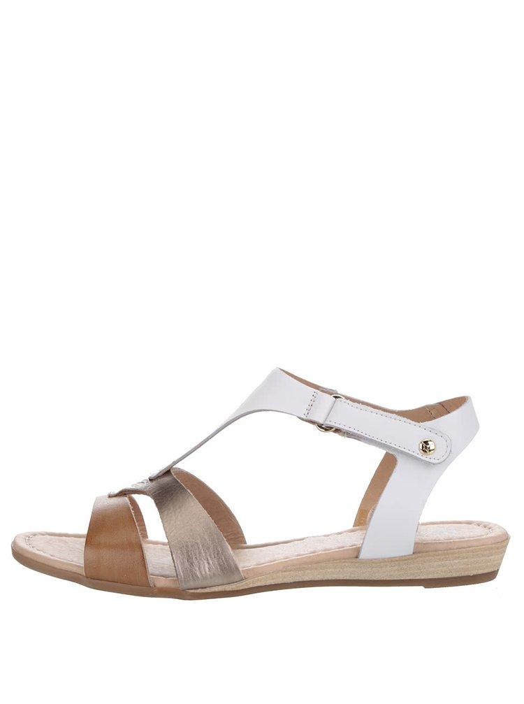 Sandale alb & maro Pikolinos Alcudia din piele