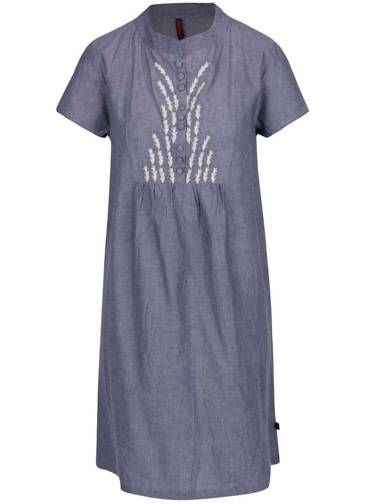 Modré šaty s výšivkou Tranquillo Loa