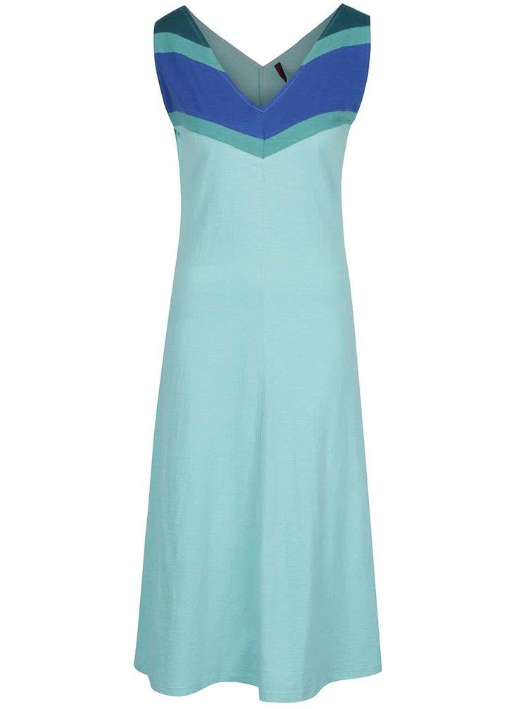 Rochie albastru deschis Tranquillo Kiki din bumbac organic cu model