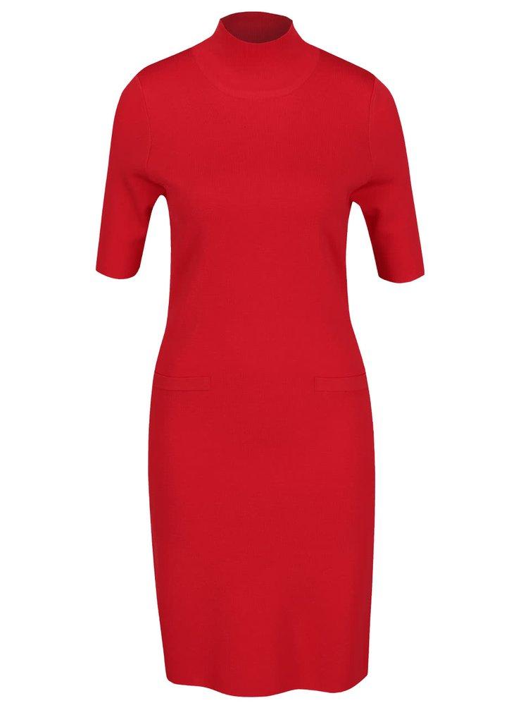 Rochie roșie Pietro Filipi cu guler înalt