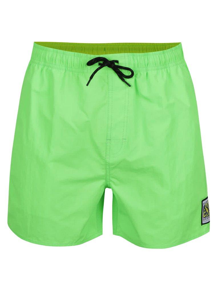 Neonově zelené pánské plavky Rip Curl Volley Fluo
