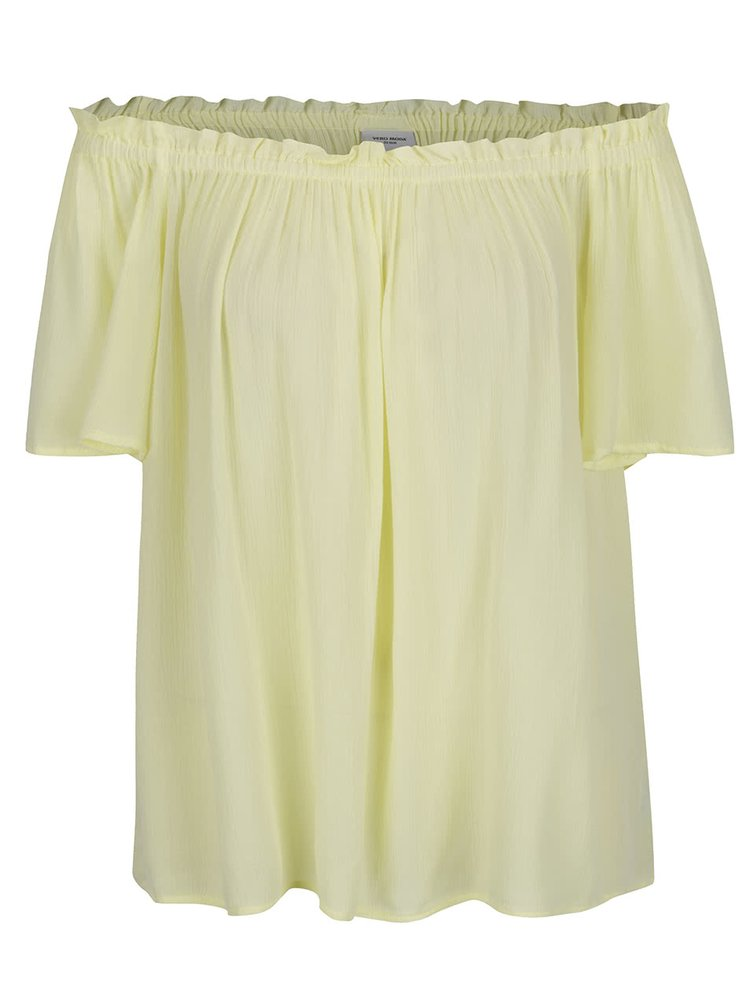 Žlutý top s odhalenými rameny VERO MODA Patricia