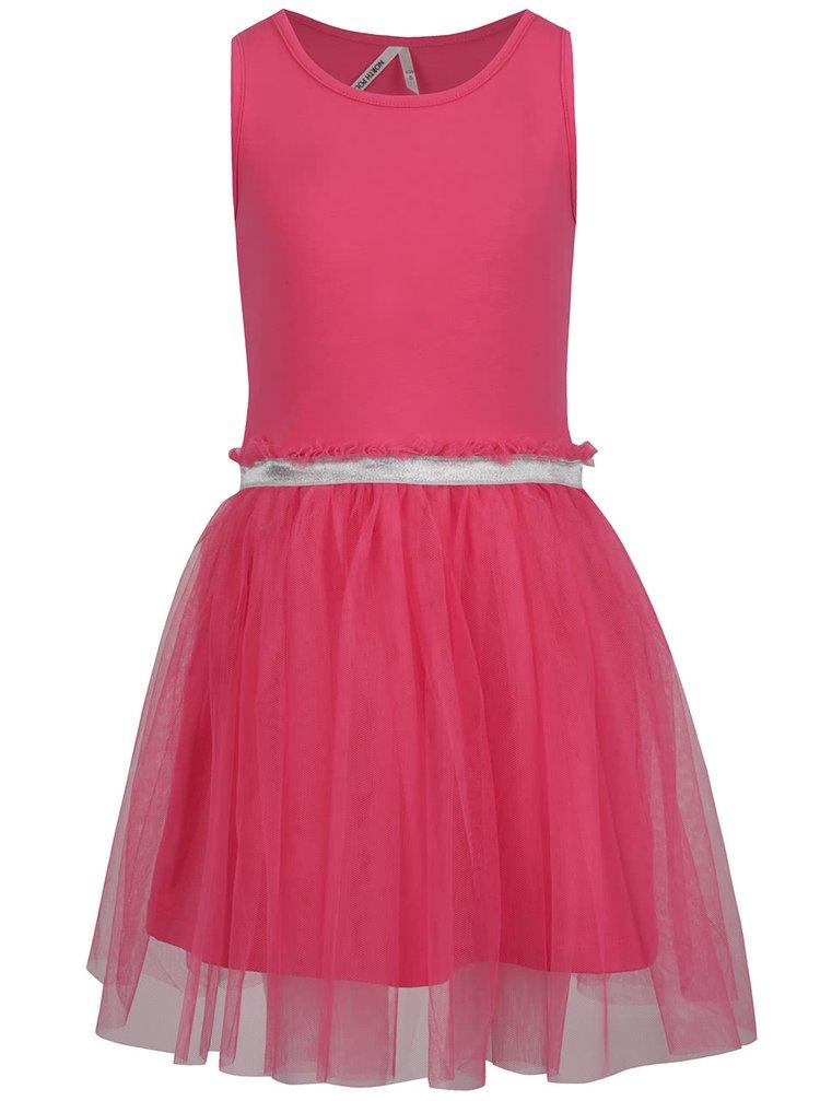 Růžové holčičí šaty s tylovou sukní North Pole Kids