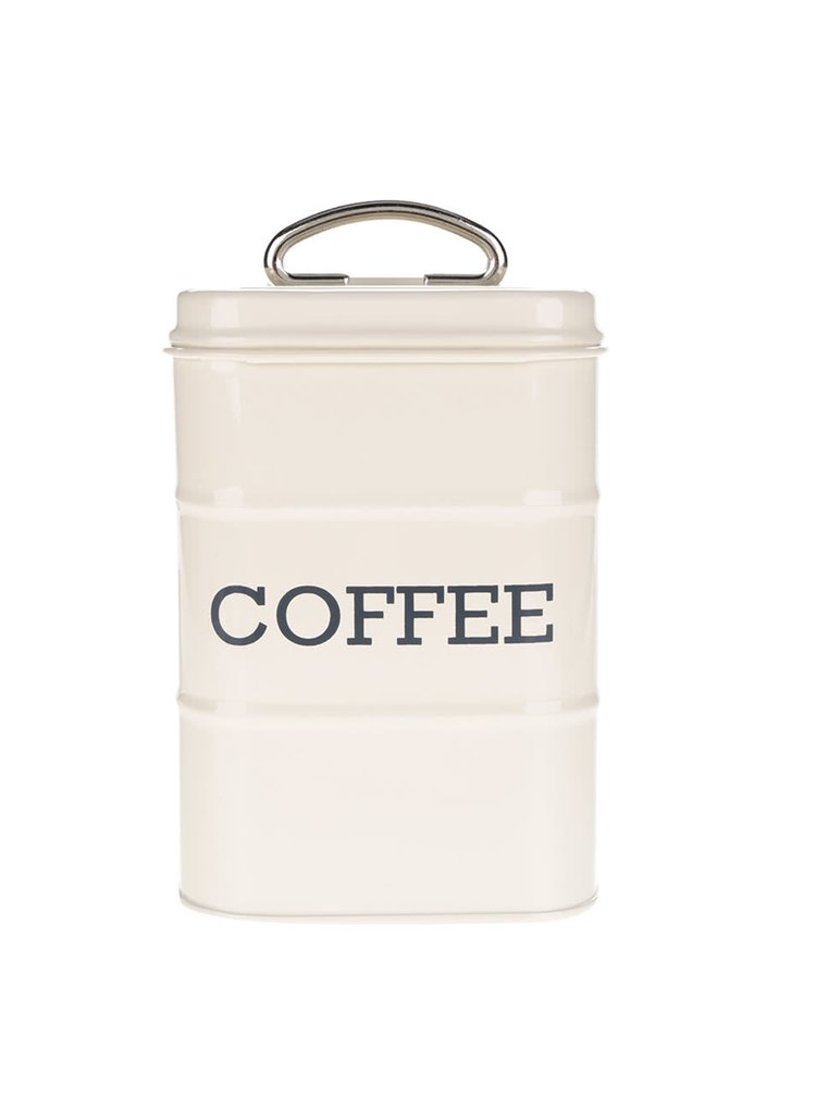 Krémová plechová retro dóza na kávu Kitchen Craft