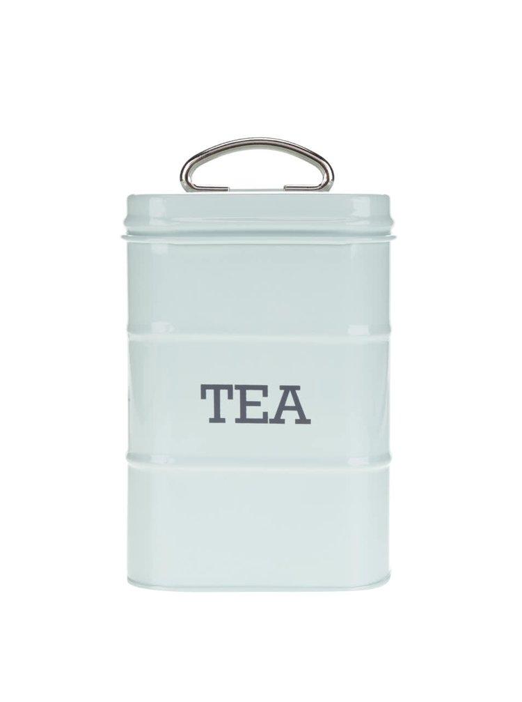 Světle zelená plechová retro dóza na čaj Kitchen Craft