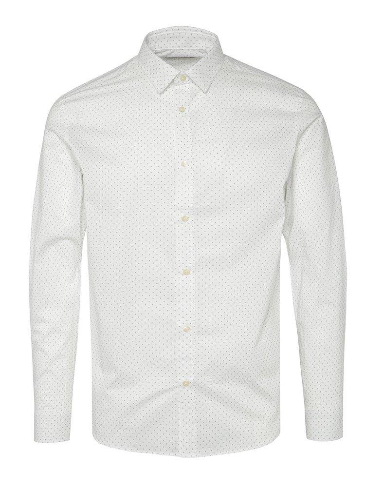 Cămașă albă Jack & Jones Blackpool cu model discret