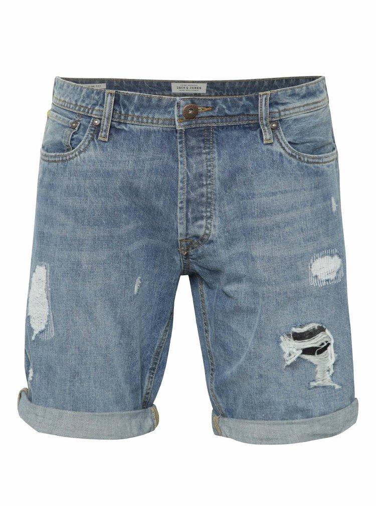 Pantaloni scurți Jack & Jones Rick Original albaștri din denim