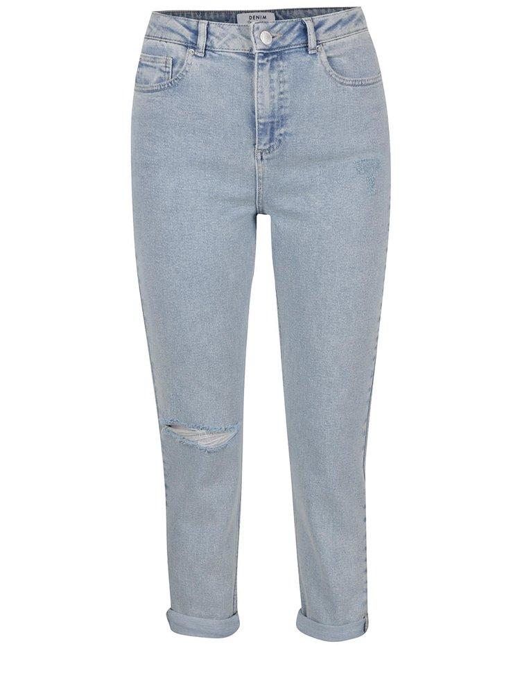Světle modré džíny s vyšisovaným efektem Miss Selfridge