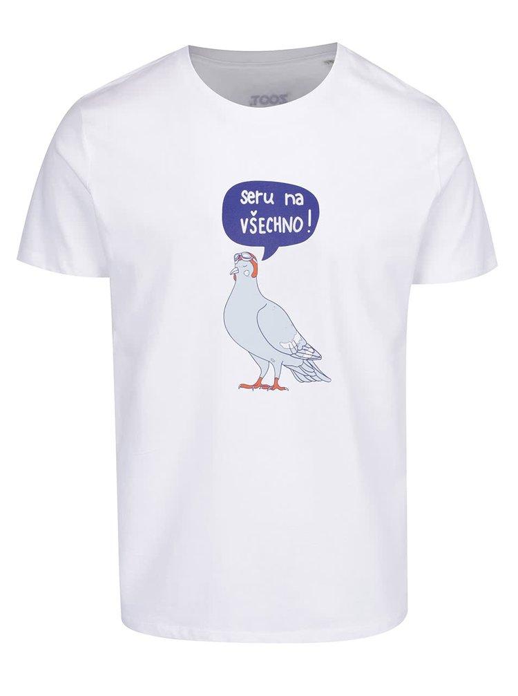 Bílé pánské tričko ZOOT Originál Seru na všechno