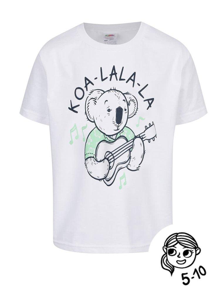 Tricou alb de băieți ZOOT Kids Koa_la