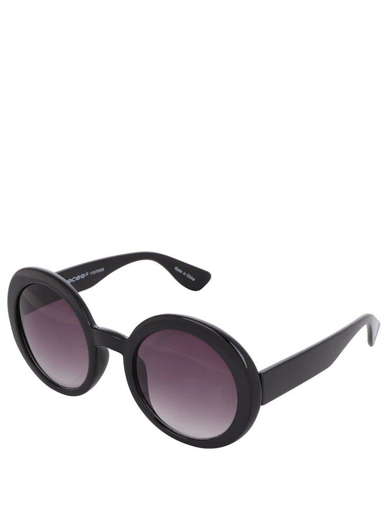 Černé sluneční brýle Pieces Lolo