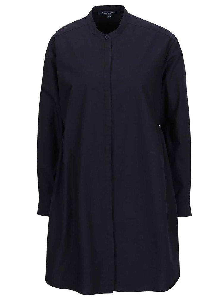 Rochie cămașă bleumarin French Connection Wilis cu croi lejer