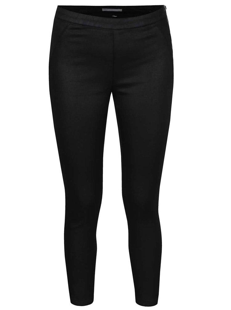 Pantaloni negri ONLY Dallas cu aspect peliculizat