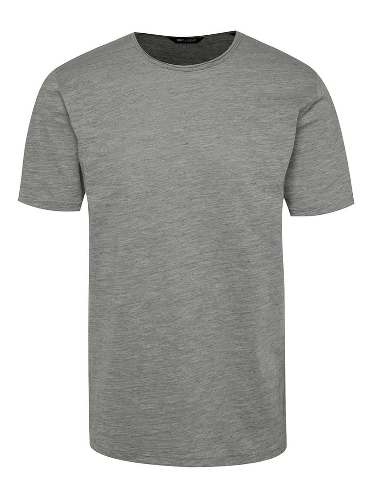 Tricou basic gri melanj ONLY & SONS Albert