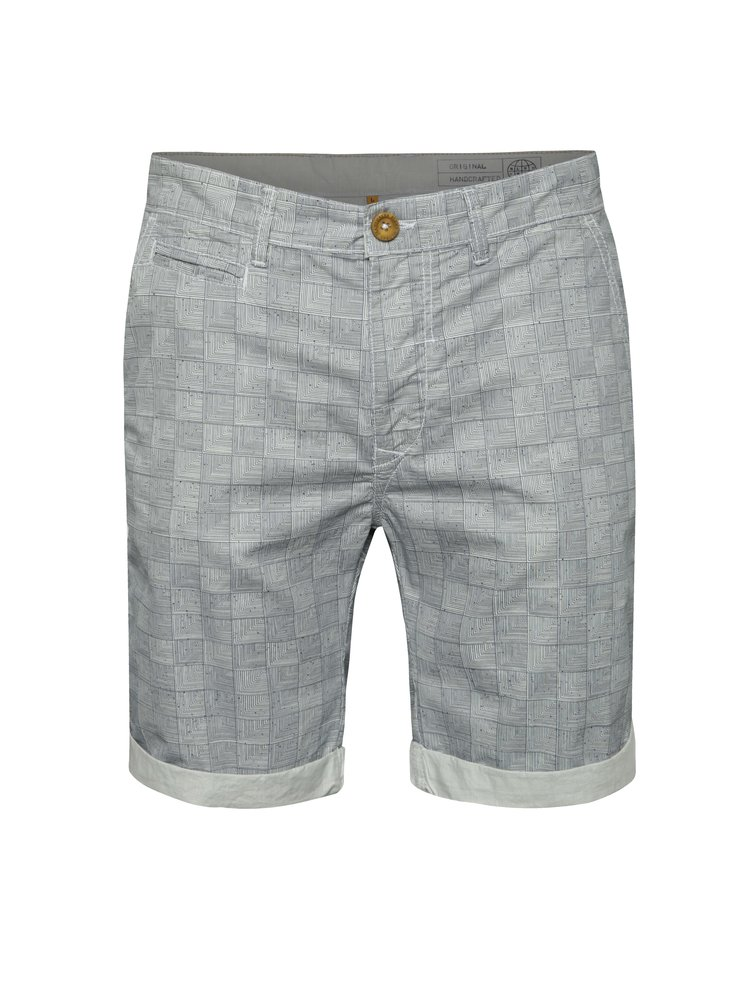 Pantaloni scurți gri Blend cu model