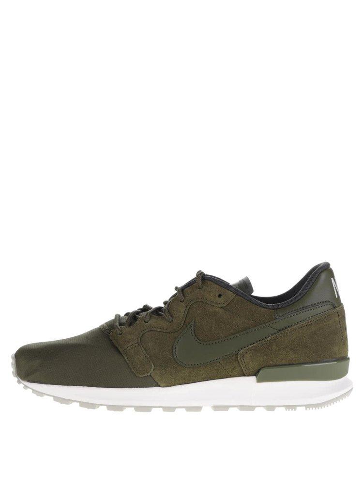 Pantofi sport kaki Nike Air Berwuda Premium cu detalii din piele întoarsă