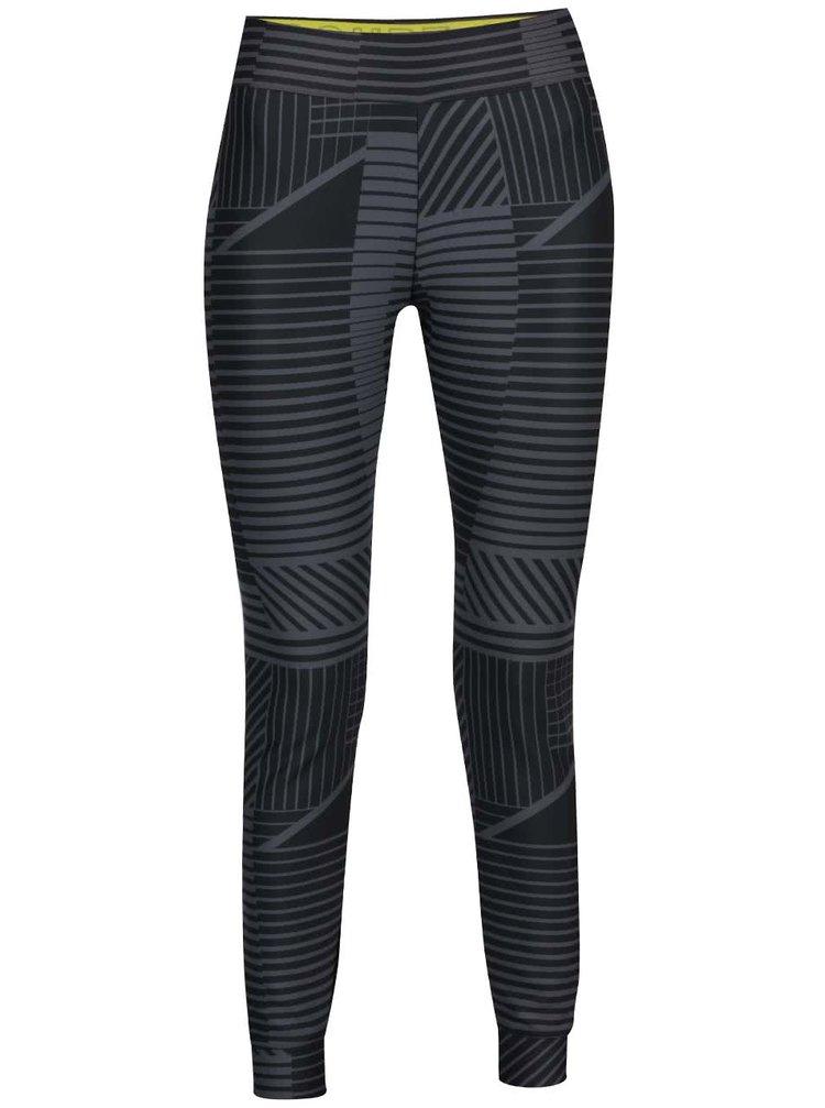 Černé dámské vzorované legíny Nike