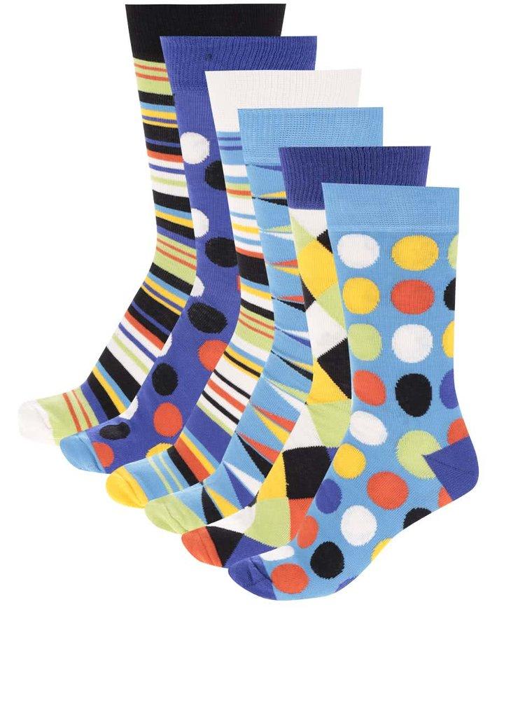Sada šesti pánských vzorovaných ponožek Oddsocks Sockology