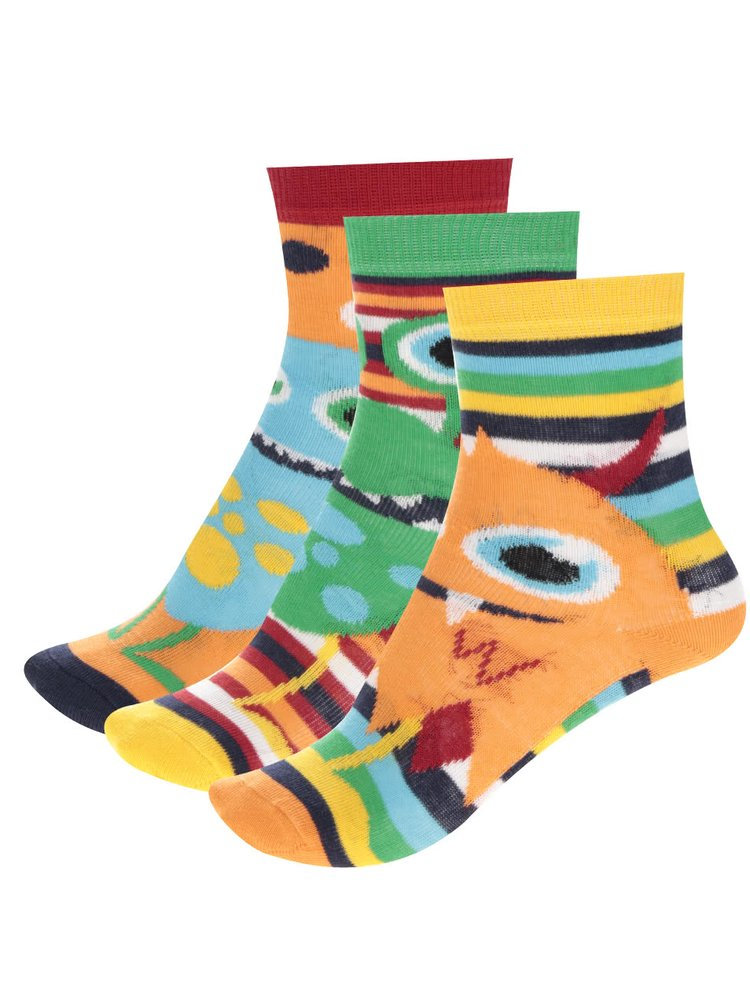 Set de 3 șosete multicolore Oddsocks Friends cu model