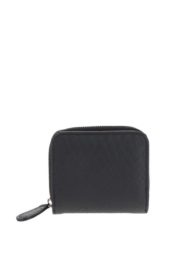 Černá peněženka s hadím vzorem Pieces Larissa