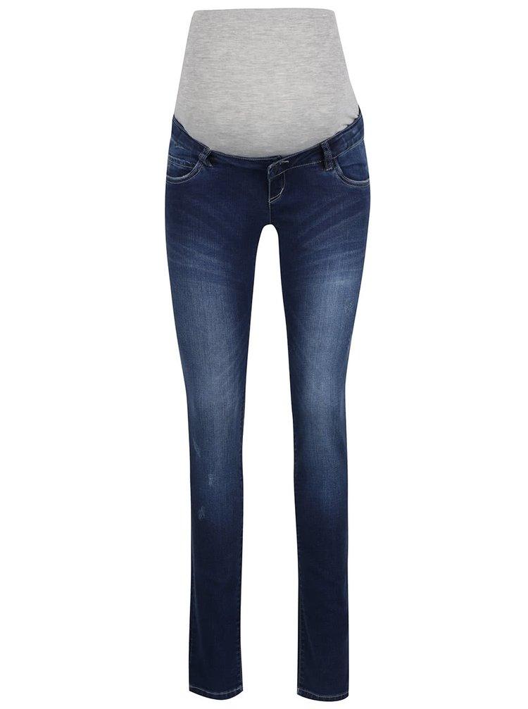 Tmavě modré těhotenské džíny Mama.licious Alexa
