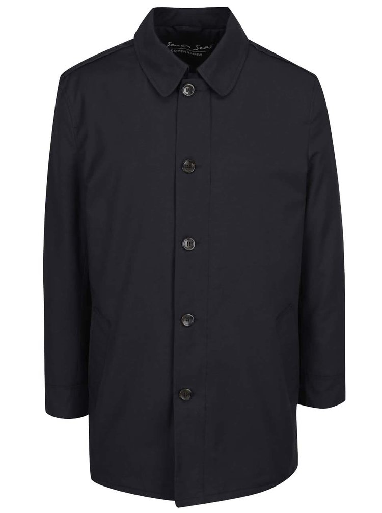 Palton albastru închis Seven Seas Oxford