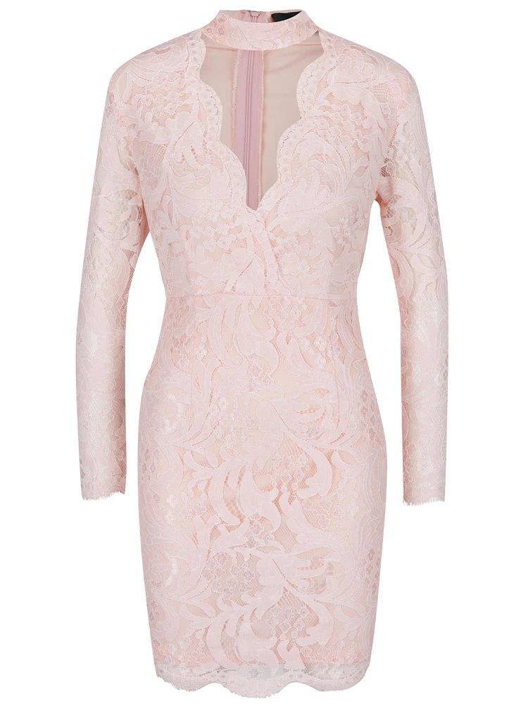 Rochie roz pal AX Paris din dantela
