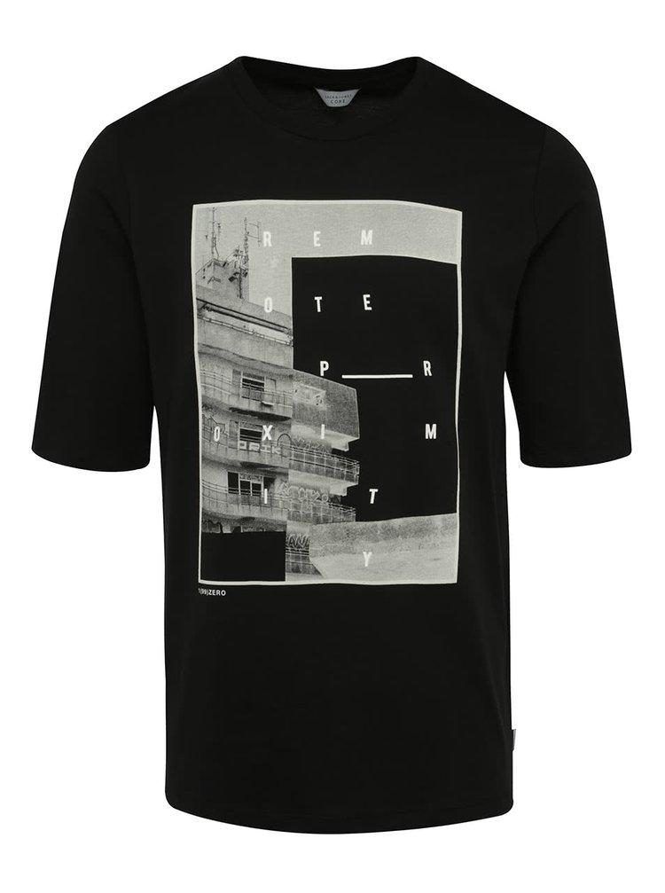 Černé triko s potiskem Jack & Jones Era