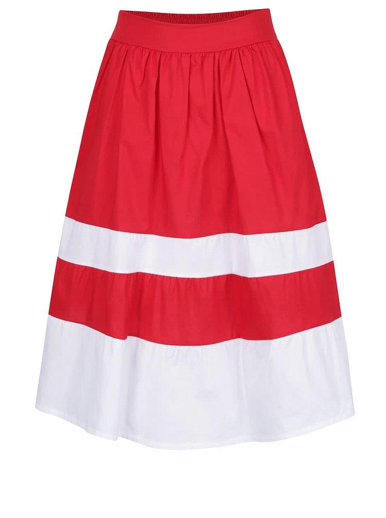 Bílo-červená sukně s kapsami ZOOT