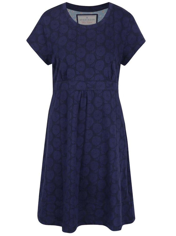Tmavě modré vzorované šaty Brakeburn