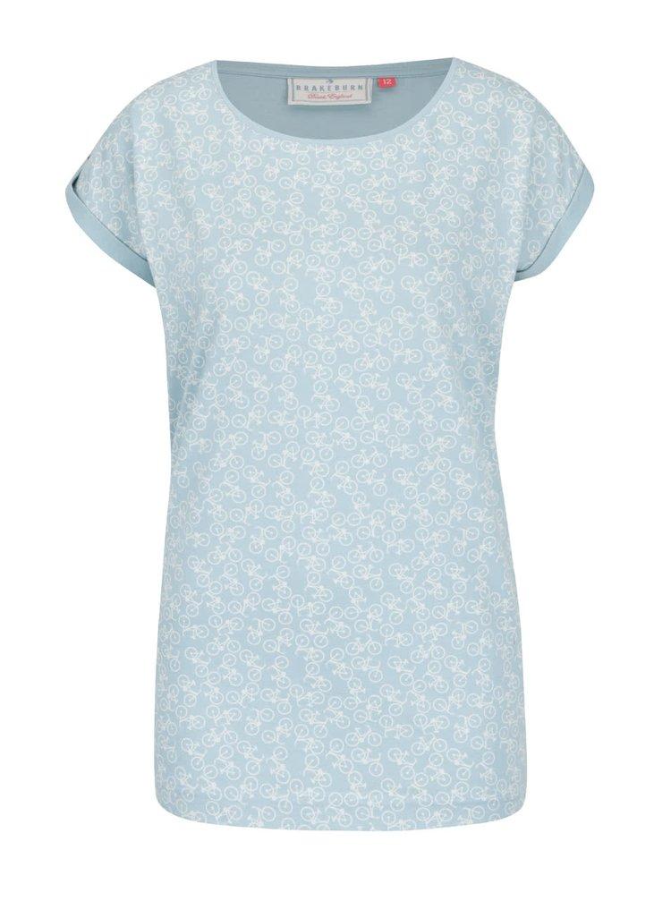 Tricou albastru deschis Brakeburn cu model