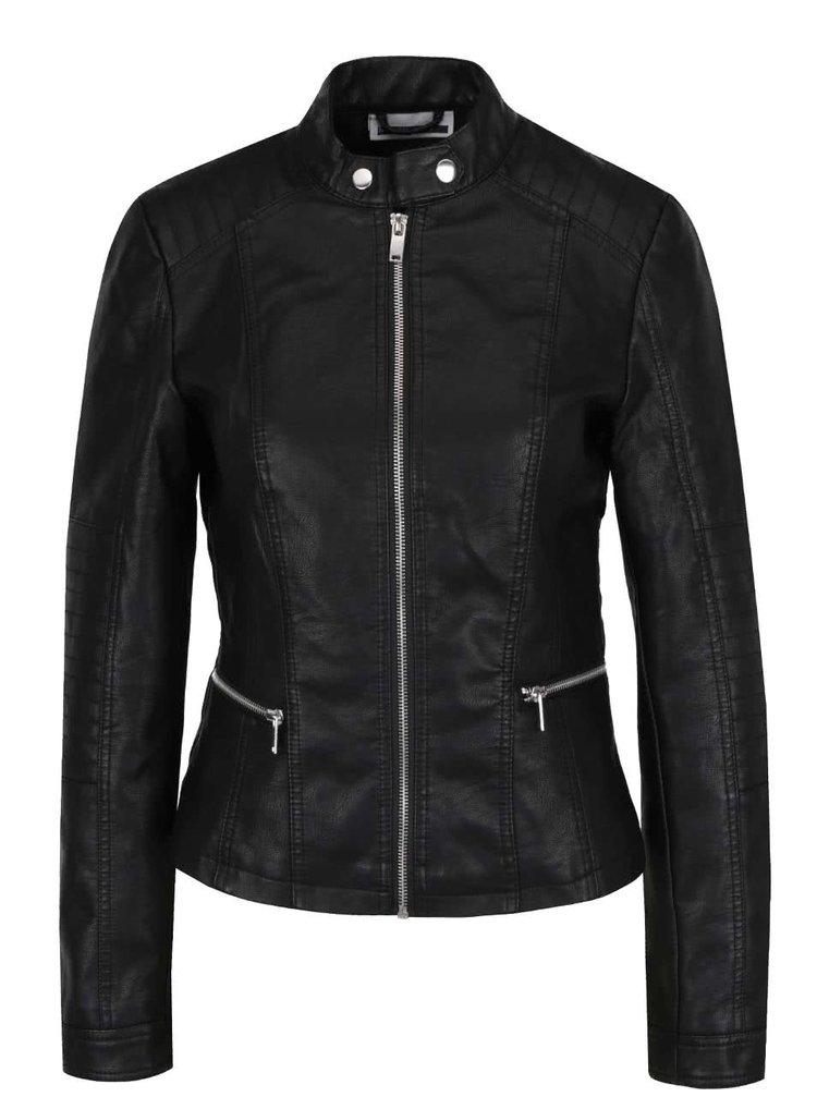 Jachetă neagră Noisy May Core din piele sintetică