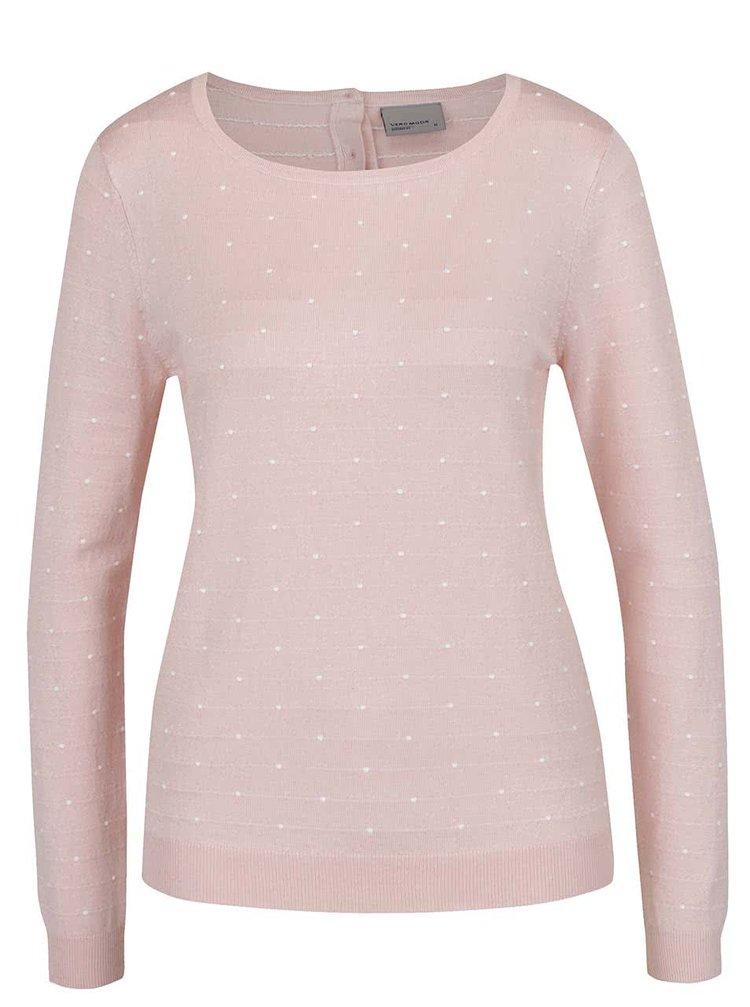 Bluză roz Vero Moda Glory cu model