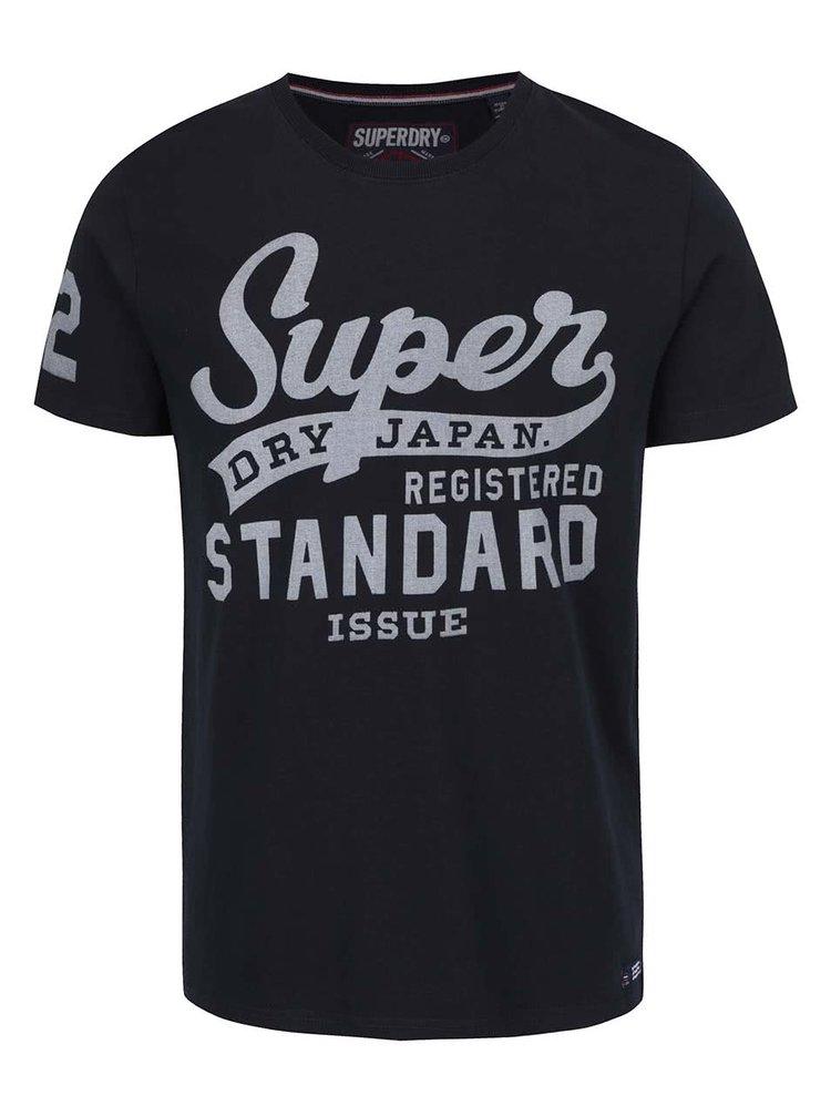 Tricou negru Superdry din bumbac cu print