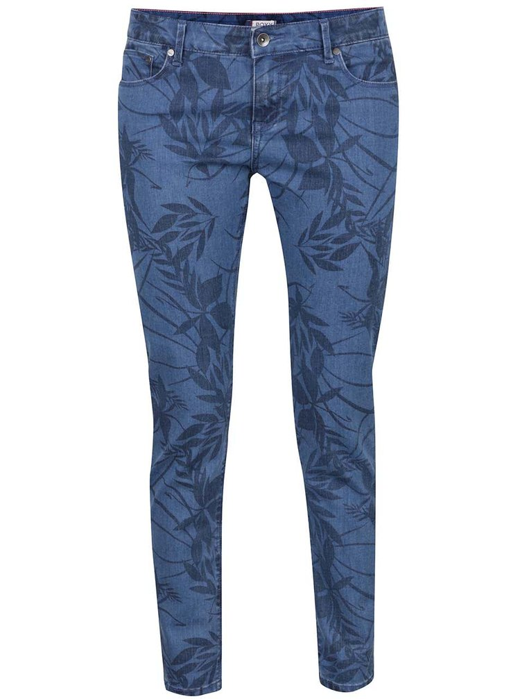 Blugi skinny albaștri Roxy Sun cu model
