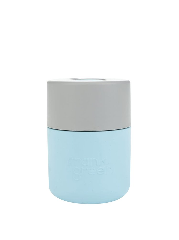Světle modrý SmartCup s šedým víčkem Frank Green 230 ml