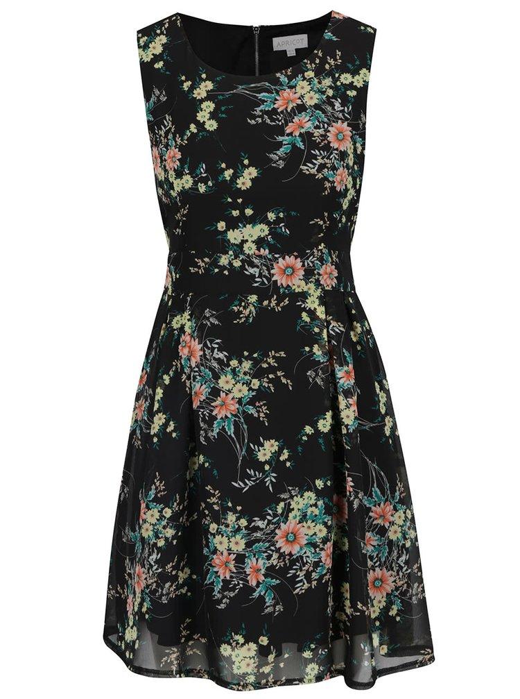 Rochie neagră Apricot cu model floral