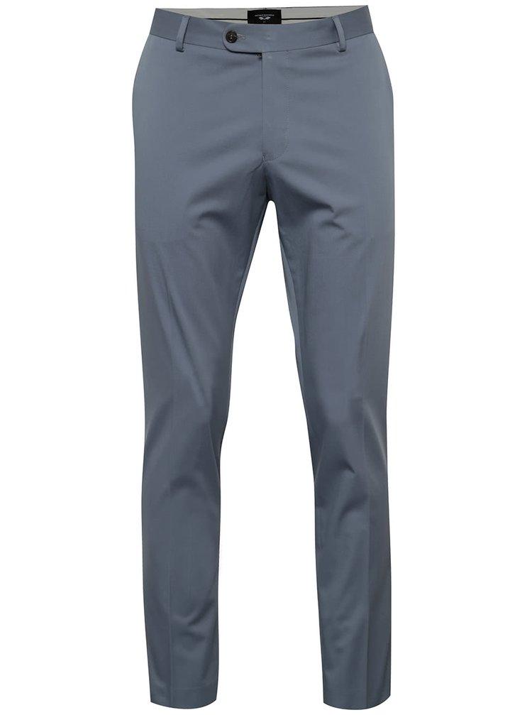Světle modré oblekové kalhoty Selected Homme Abone-Cotton