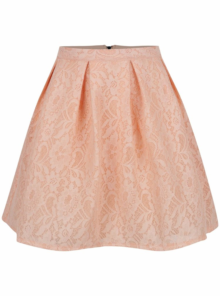 Světle růžová krajková sukně TALLY WEiJL